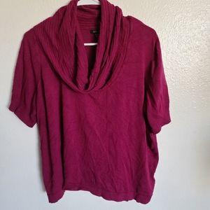 Apt. 9 burgundy plus size tunic top
